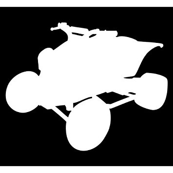 355x355 (2x) 5 Four Wheeler Silhouette Logo Sticker Vinyl