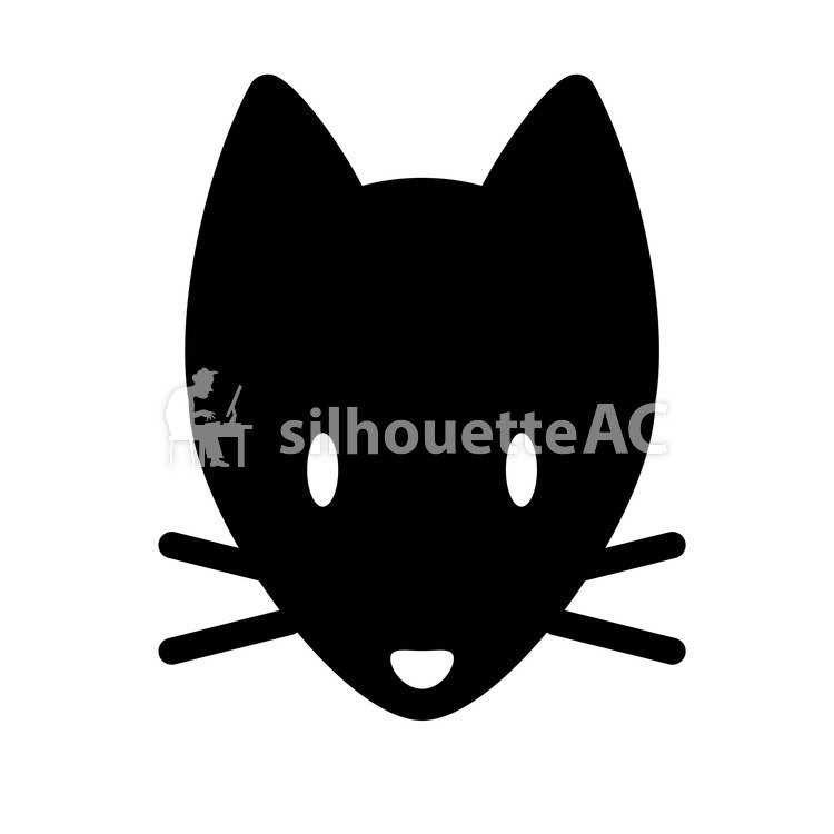 750x750 Free Silhouette Vector Animal, Black, Face