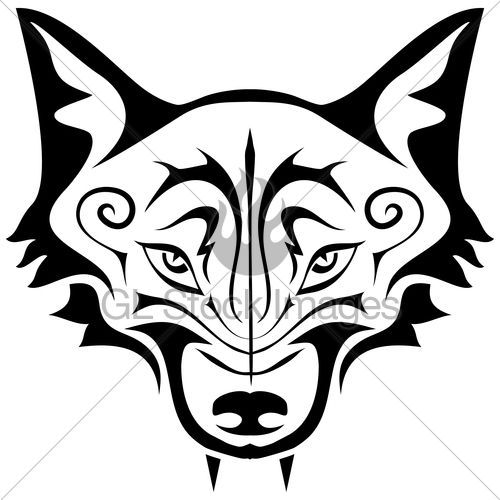 500x500 Image Result For Glass Etching Stencil Fox Face Craft A Weird