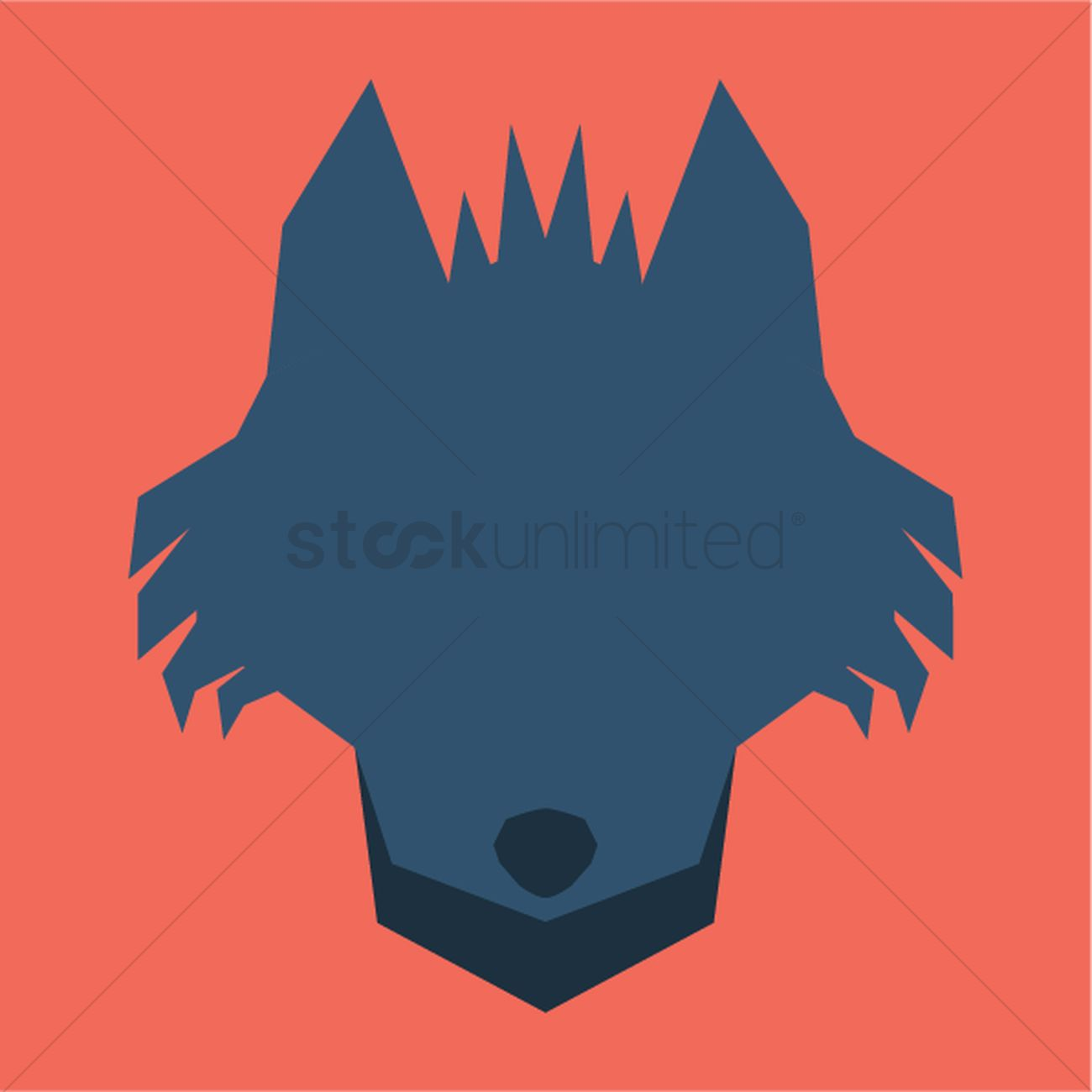 1300x1300 Silhouette Of Fox Face Vector Image