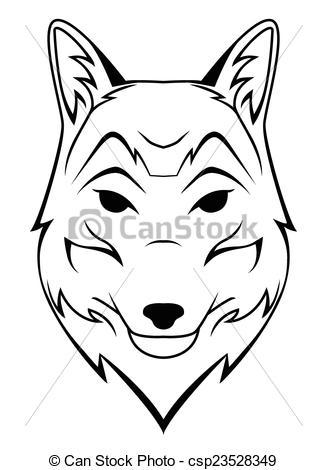 327x470 Fox Head Silhouette