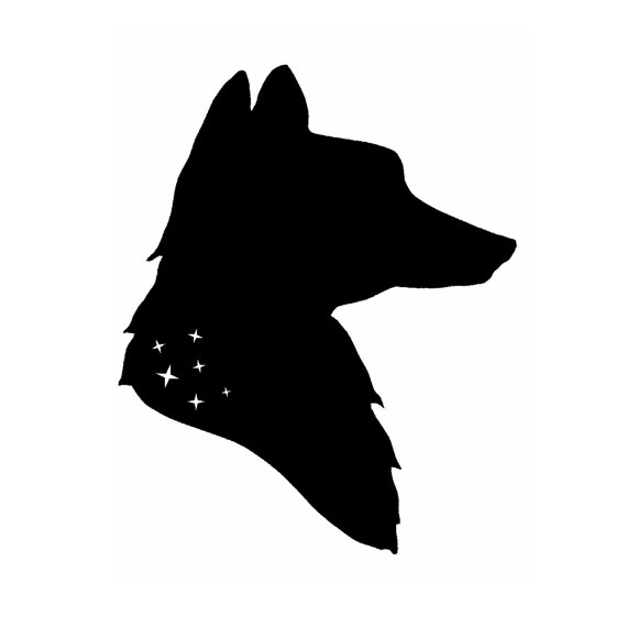 570x570 Fox And Stars Silhouette Print By Thelittlechickadee On Etsy