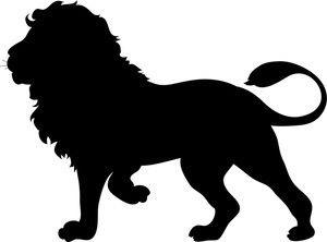 300x222 Lion Head Silhouette Clip Art Clipart