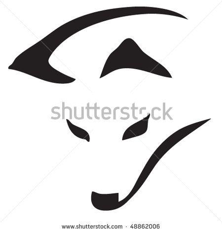 450x470 Fox Head Silhouette