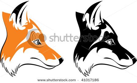 450x274 Fox Head Outline Clipart Panda