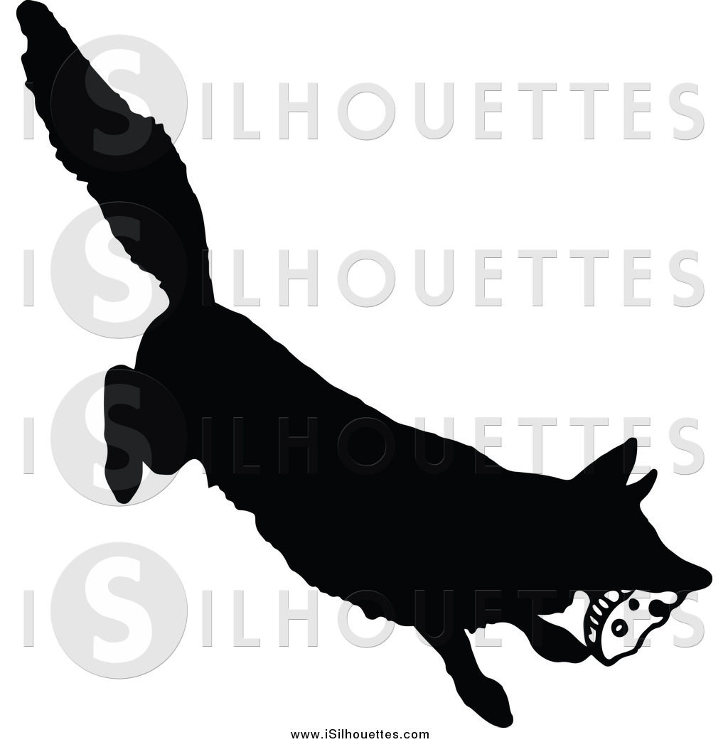 1024x1044 Clipart Of A Silhouetted Fox Stealing Food By Prawny Vintage