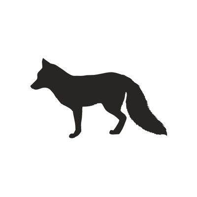 400x400 Forest Critter Fox Chalkboard Wall Decal Wall Decals