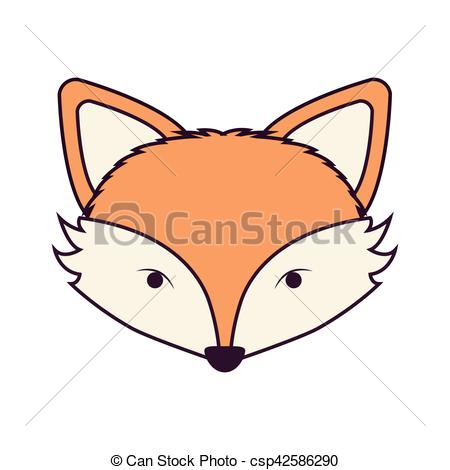 450x470 Silhouette Light Brown Color Of Fox Face Vector Illustration Eps