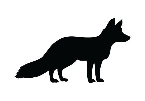 500x350 Fox Silhouette Sign Rustic Log Cabin Wall Decor Country Home Decor