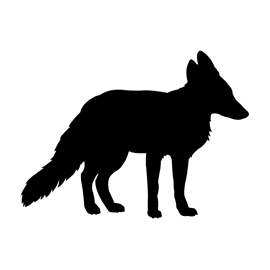 270x270 Red Fox Silhouette Stencil Free Stencil Gallery
