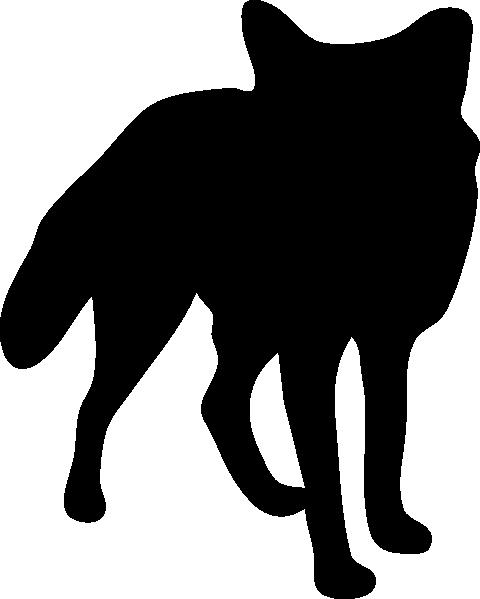 480x599 Fox Silhouette Clip Art