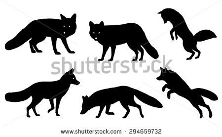 450x277 Fox Silhouette Vector Stock Photos, Images, Amp Pictures