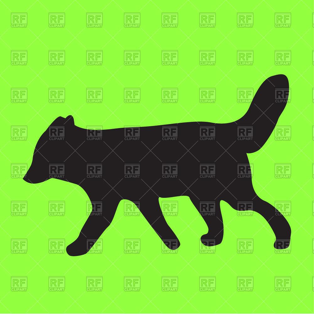 1000x1000 Silhouette Of Funny Fox Free Vector Clip Art Image
