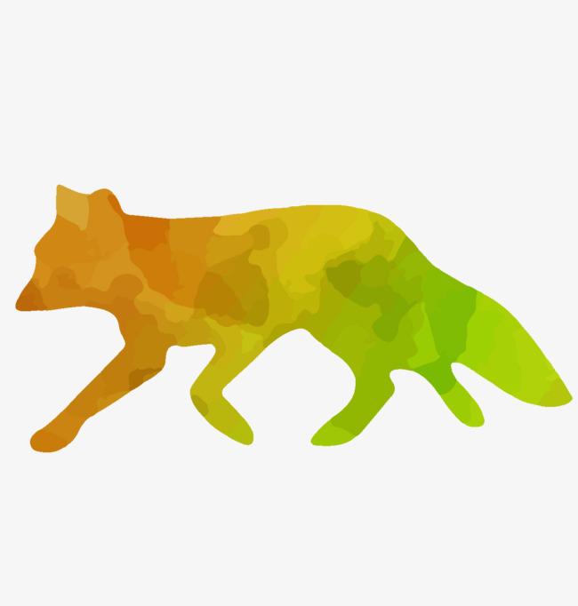 650x682 Color Wild Fox Silhouette Vector Material, Fox, Wild, Wild Fox Png