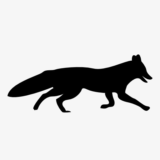 512x512 Fox Silhouette, Animal, Projection, Black Silhouette Png Image