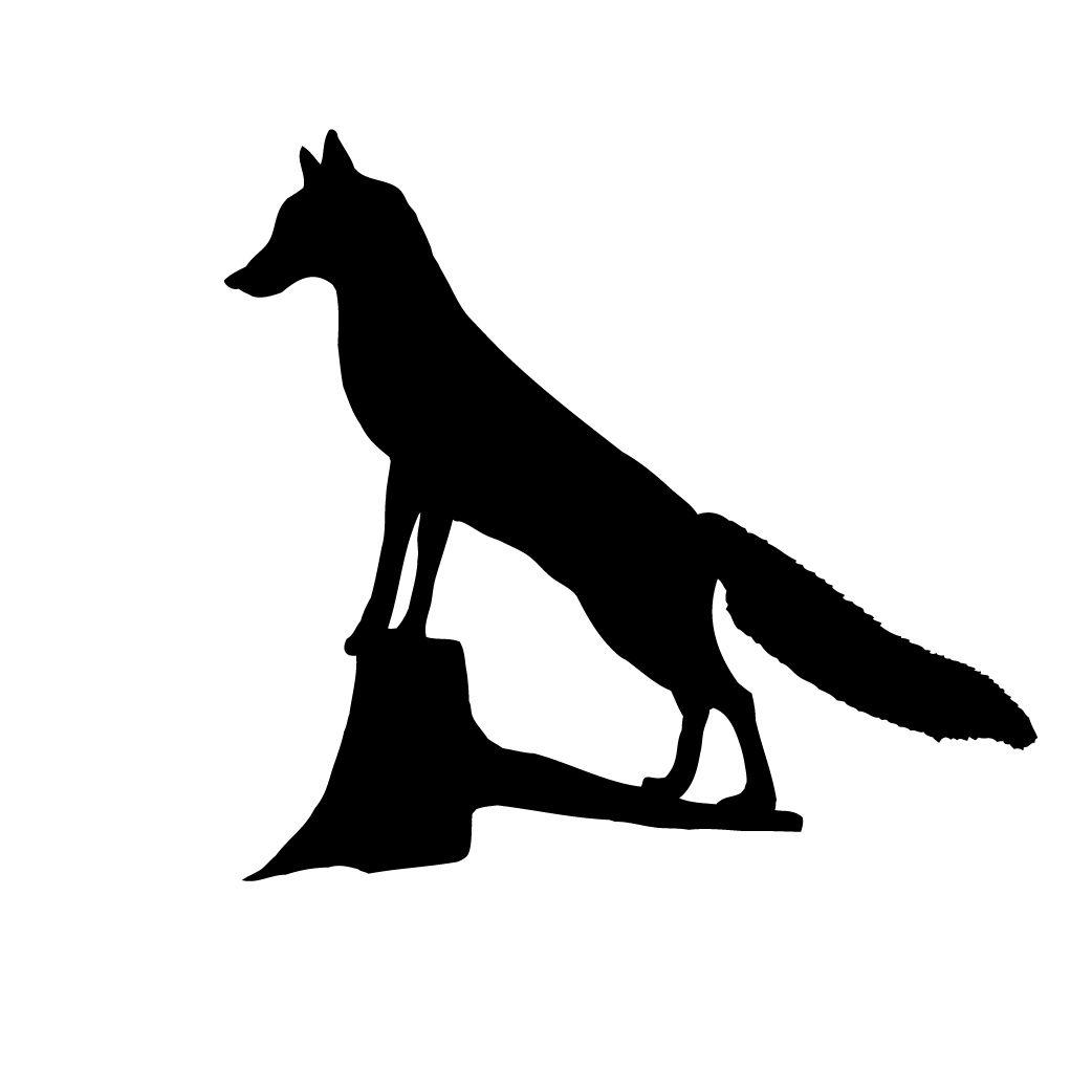1042x1042 Fox Silhouette Boys' Room Fox Silhouette