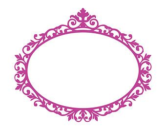 340x270 Victorian Vintage Frame Silhouettes Svg Vector By Easycutprintpd