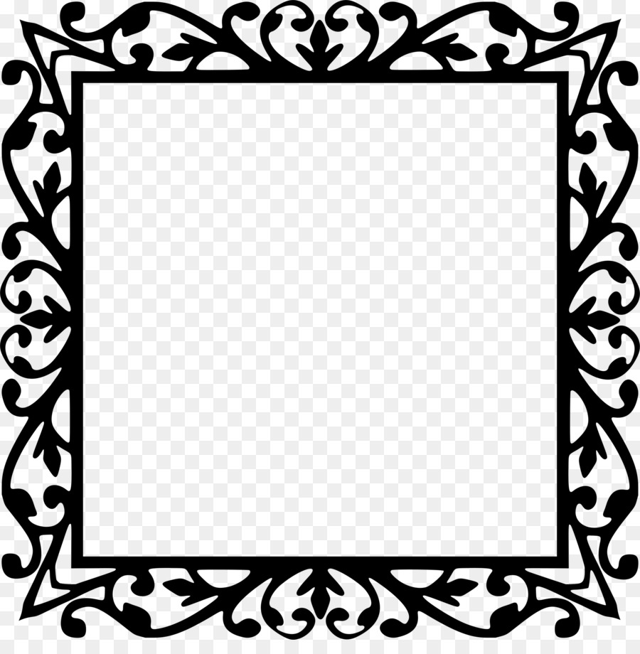 900x920 Picture Frames Silhouette Drawing Clip Art