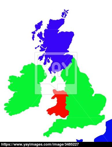 388x512 Outline Map Of United Kingdom And France Image