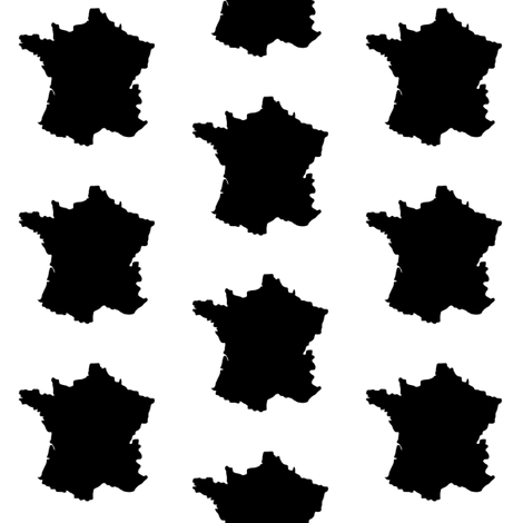470x470 France Silhouettes Fabric