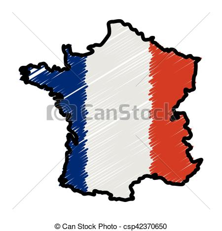 450x470 France Map Silhouette Icon Vector Illustration Graphic Clipart