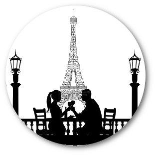 311x311 Love In Paris France Romantic Eiffeltower Silhouette By Kalandor