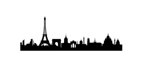 570x324 Rubber Stamp Of Paris France Skyline