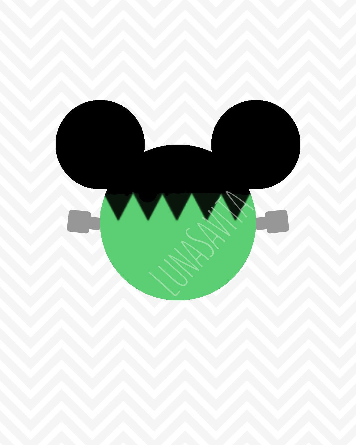 1152x1440 Halloween Frankenstein Mickey Mouse Disney Svg, Dxf, Studio3