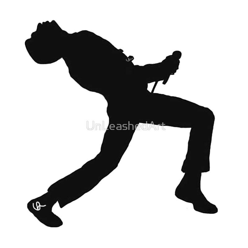 800x800 Freddie Mercury Silhouette Drawstring Bags By Unleashedart