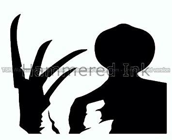 355x290 Freddy Krueger Amp Glove Shadow Die Cut Vinyl Car Decal Window