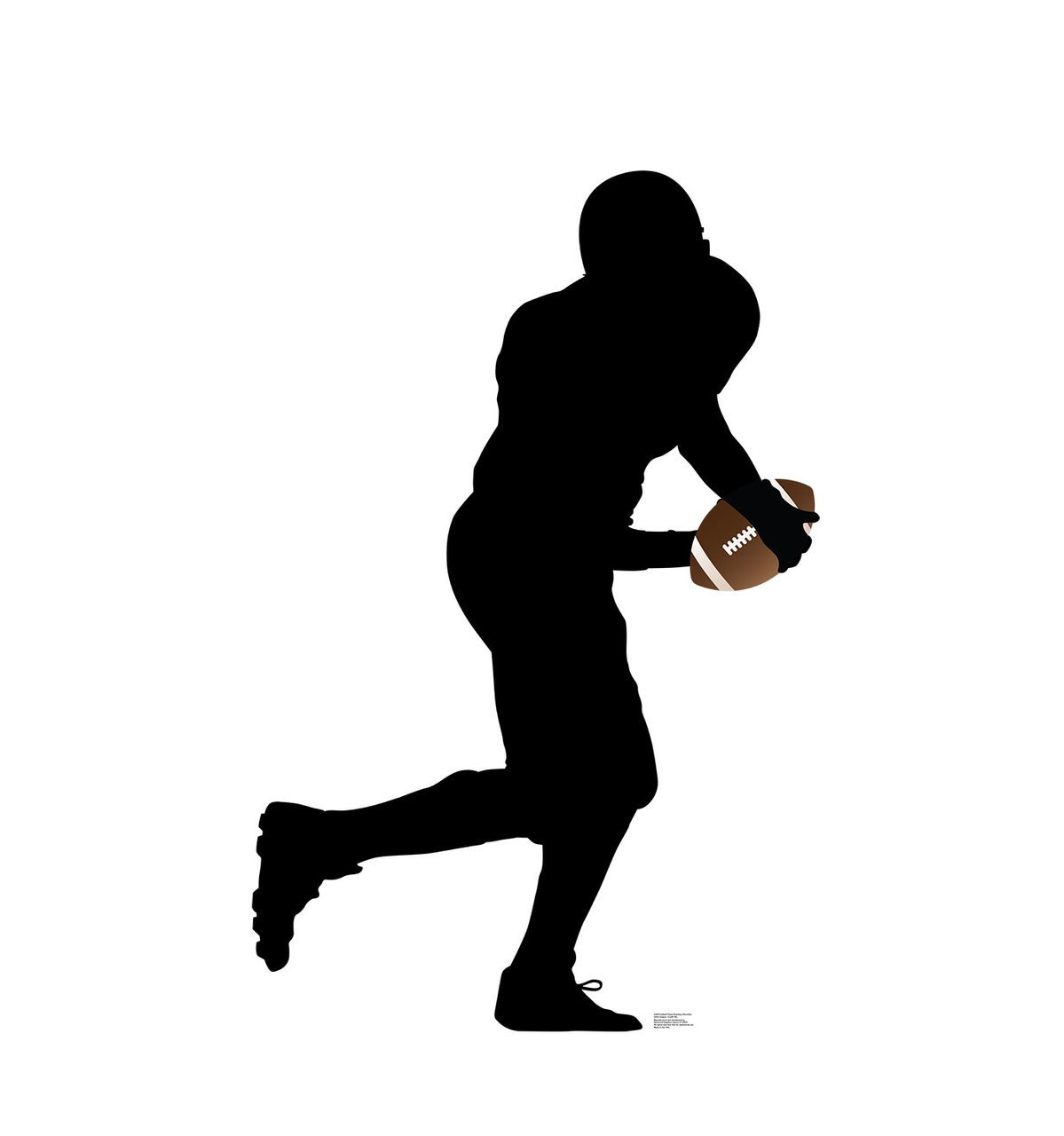1199x1280 Life Size Football Player Running Silhouette Cardboard Standup