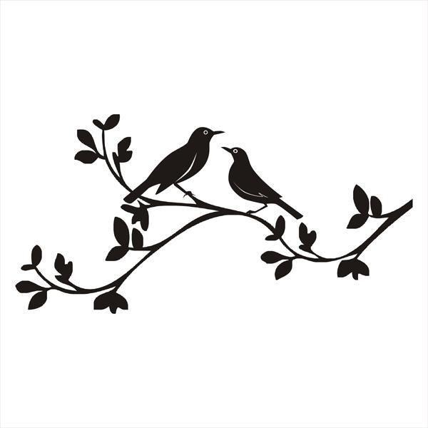 600x600 Love Birds Clip Art Free Birds On A Branch Silhouette Www