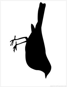 232x300 Bird Silhouette Image Craft Ideas Silhouette