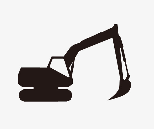 527x442 Construction Car Silhouette, Excavator, Machine Png And Psd File