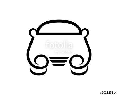 500x400 Front Looking Of Car Silhouette Stock Image And Royalty Free