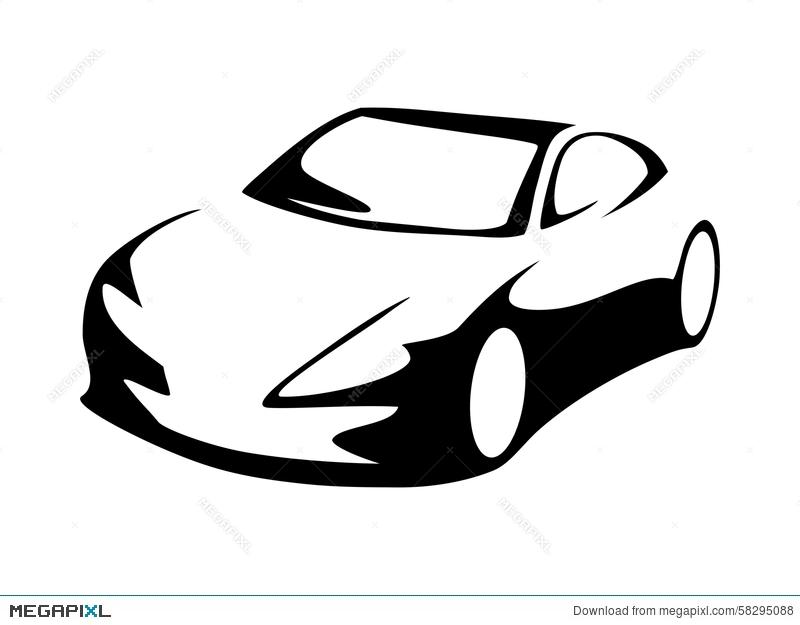 800x625 Modern Car Silhouette Illustration 58295088