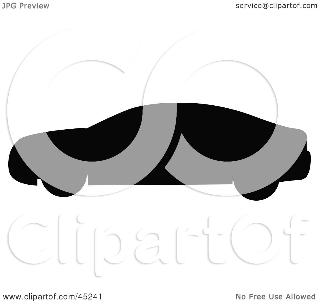 1080x1024 Royalty Free (Rf) Clipart Illustration Of A Profiled Black Car