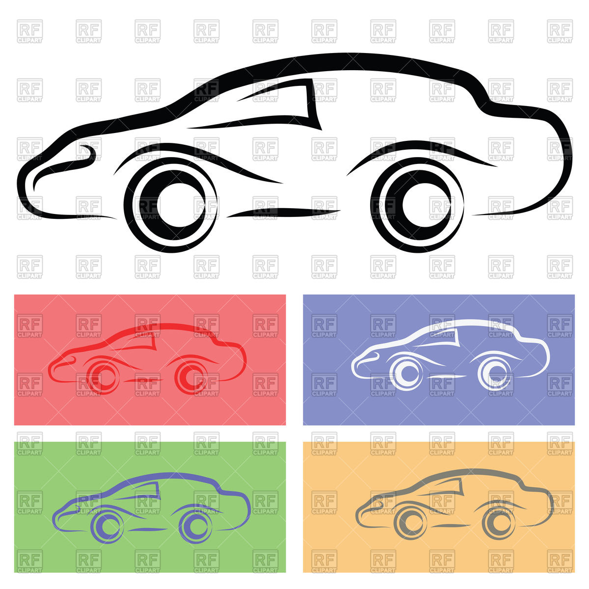 1200x1200 Simple Car Silhouette Royalty Free Vector Clip Art Image