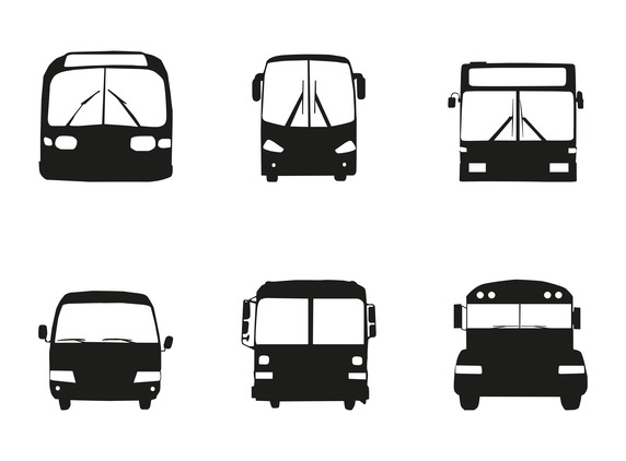 572x422 Bus Car Silhouette Front Vector Free Vector Download In Ai