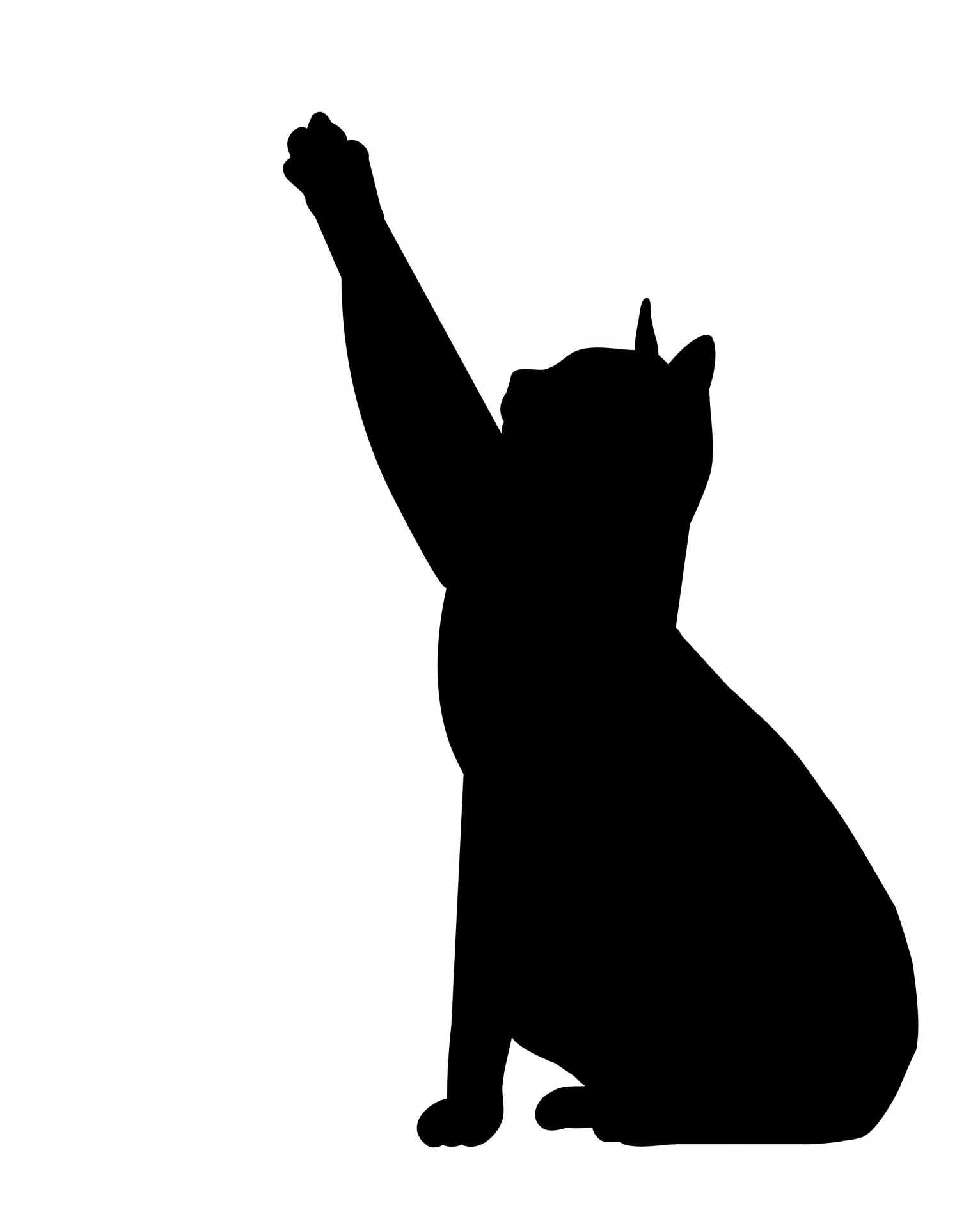1532x1919 Cat Stretch Black Silhouette Free Stock Photo