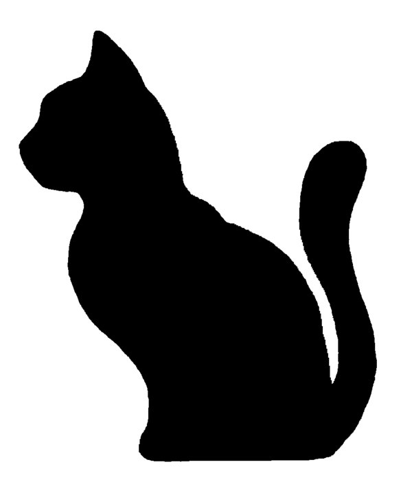 600x702 Clip Art Cat Outline Silhouette Free Download On Lemonize
