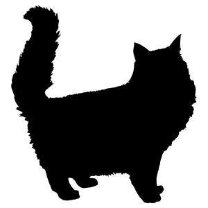 300x300 Fluffy Cat Silhouette Clipart, Cliparts Of Fluffy Cat Silhouette