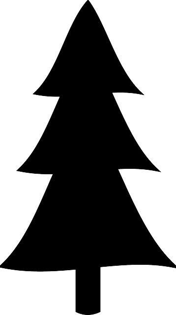 358x640 Christmas Tree Silhouette Clip Art Free Clipart