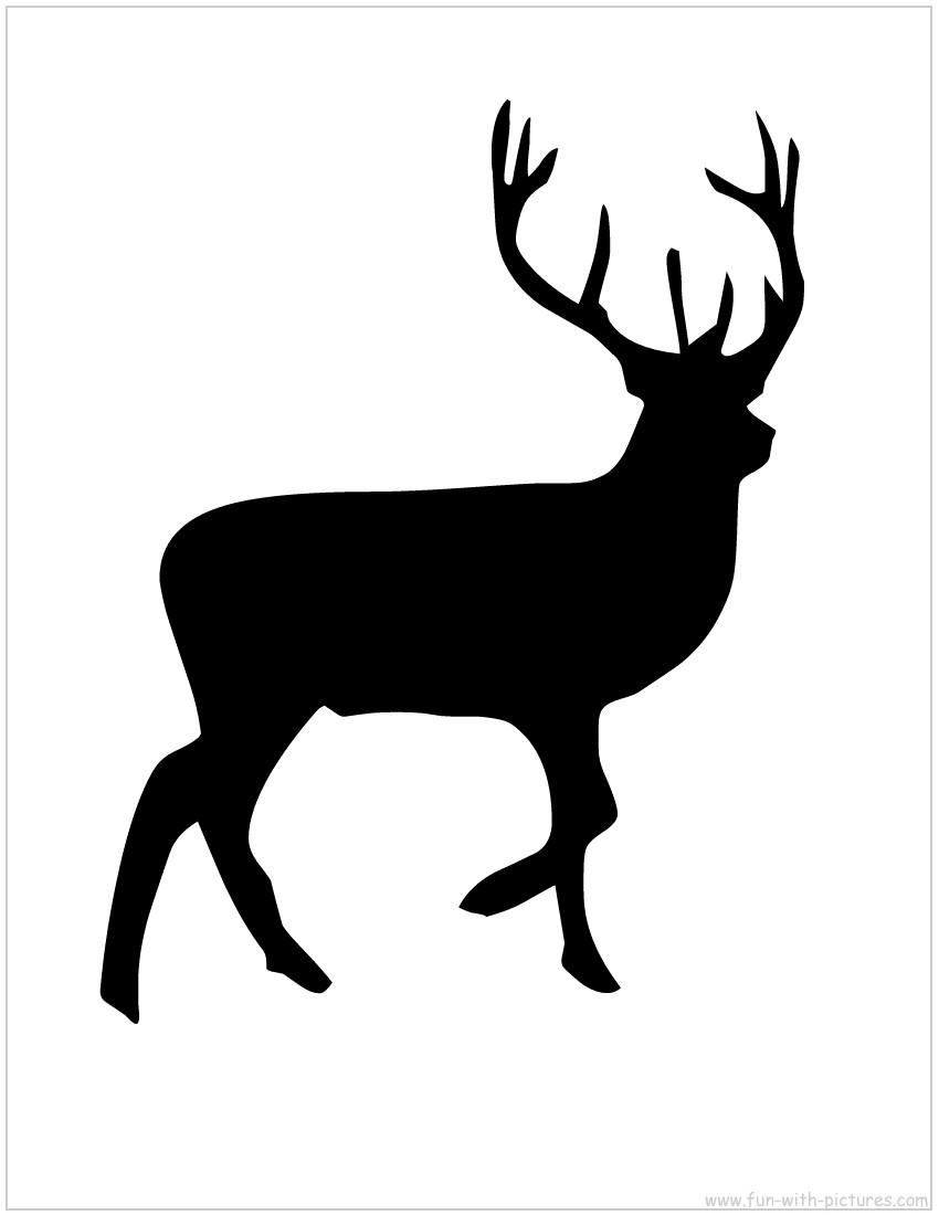 850x1100 Reindeer Silhouette Clipart