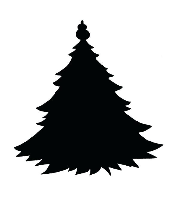 588x661 Christmas Tree Outline Images Kids Coloring Tree Silhouette Free