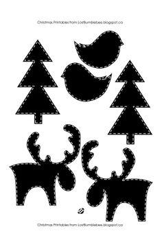 236x347 Printable Christmas Templates, Shapes And Silhouettes Christmas