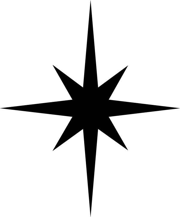 601x722 Christmas Star Silhouette