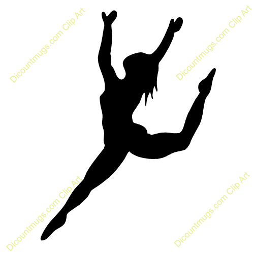 500x500 Ribbon Dancer Silhouette Clip Art Dance Leap Silhouette Clipart