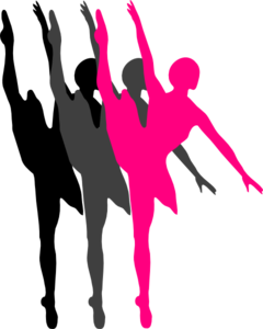 240x300 Triple Ballet Dancer Silhouette Clip Art