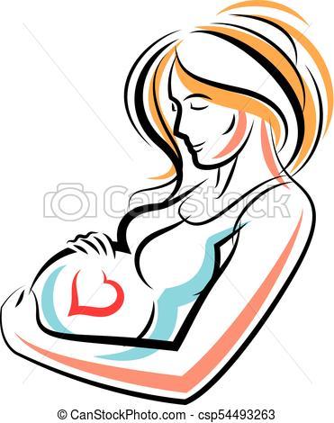 371x470 Pregnant Woman Elegant Body Silhouette Placed In Decorative